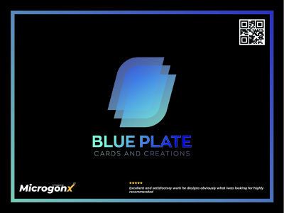 Blue Plate Cards And Creations ui webdesign businesscard type animation vector graphic design typography minimal logo illustration design branding