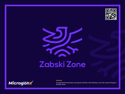 Zabski Zone business card design type ui design vector graphic design typography minimal icon animation logo illustration design branding