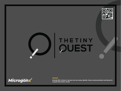 The Tiny Quest typedesign business card design ui animation vector graphic design typography minimal logo illustration design branding