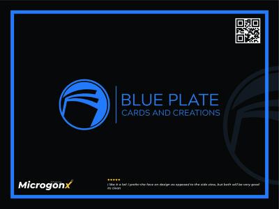 Blue Plate type ui vector app label design minimal logo illustration design branding animation graphic design typography