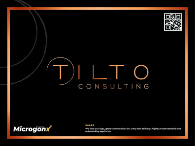Tilto Consulting business card design type ui animation vector graphic design typography minimal logo illustration design branding