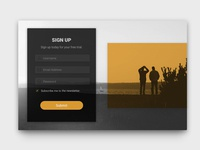 001 - Sign Up Form