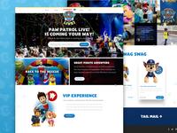 Paw Patrol Live! - Homepage