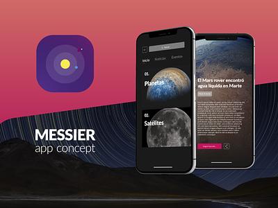 Messier - Astronomy App Concept space astronomy ux ui design