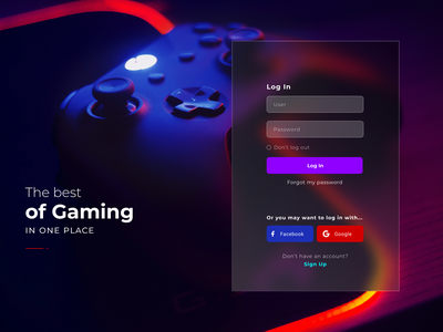 Daily UI #1 - Onboarding Screen Concept game login onboarding gaming user interface ux ui design