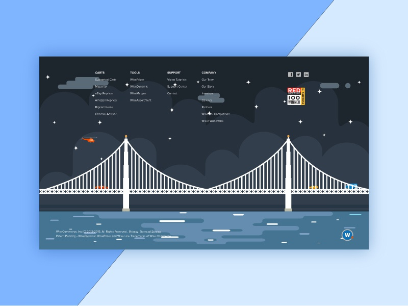 Footer animation web