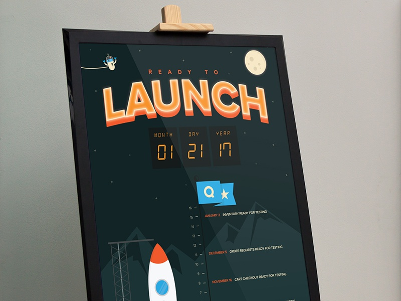 Quartzy Launch Poster by Chad Balanza for Quartzy on Dribbble