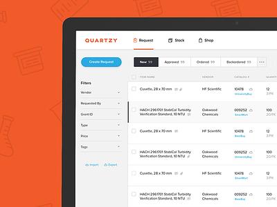 Sneak Peek at Quartzy 2.0  web design product design webapp app product launch quartzy lab science visual design