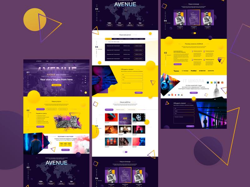Corporate Website for Avenue Web-Studio web development services web development logo web developer website web design it services ui web design it company branding