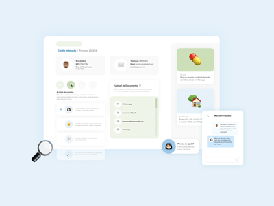 Client Area website minimal flat ux ui design