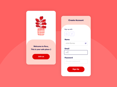 Sign Up dailyui homepage log in sign up