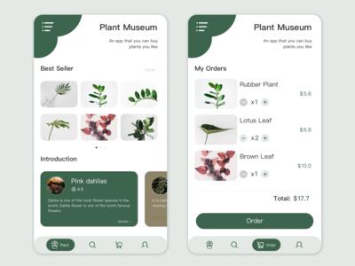 Plant Museum App UI
