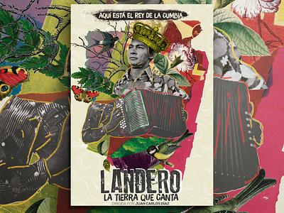 Landero: La Tierra que Canta Poster film collage poster music cumbia