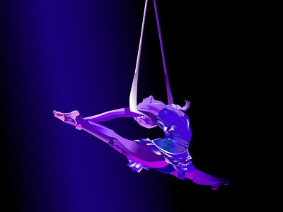 Cirque du soleil cirque purple animation branding illustrator illustration graphic design art artwork adobe illustrator
