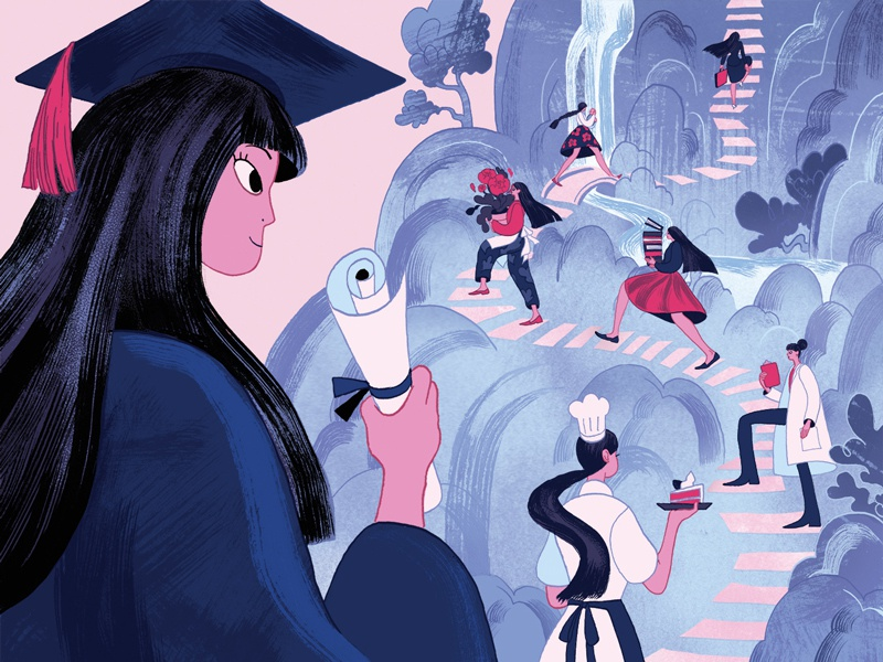 Graduating and Looking for Your Passion? career path career the new york times graduation illustration