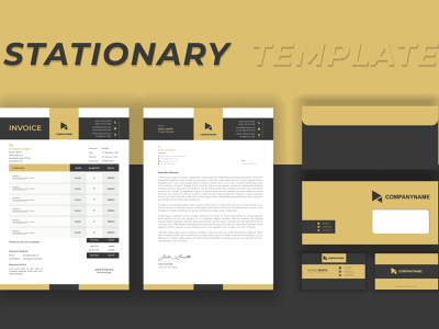 Minimal Branding Identity Stationary Design For print invoice businesscard envelope identity template stationary design branding print modern logo graphic design minimal