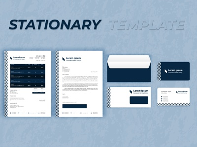 Corporate Branding Identity Stationary Template graphic design minimalist logo envelope letterhead invoice modern