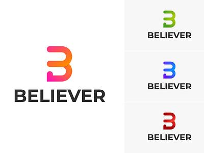 Modern Logo Design For Believer branding design illustration minimalist logo design minimal logo modern graphic design