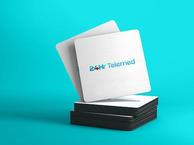 24Hr Telemed creative minimal logo design simple creative design creative icon modern minimalist design logo professional graphic design branding logo design minimal