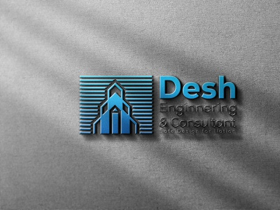 Logo Design for Desh Engineering & Consultant building logo consultant logo ecommerce enginnering branding professional creative design minimalist minimal logo design modern logo graphic design