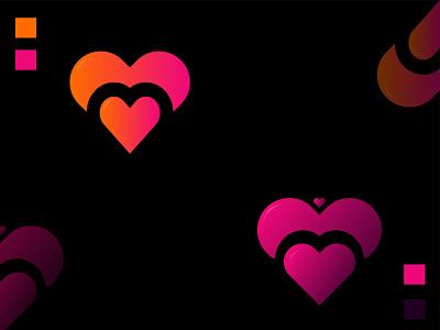 Hidden speech Bird and M in Love Shape graphic design art illustrator typography mobile minimal clean identity lettering branding flat icon ux illustration logo ui vector design logo design icon design