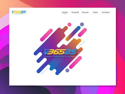 School logo For V365BS typography icon art ui ux graphic design cool modern learn school startup logo design minimalist minimal flat logo