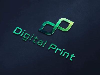 DP icon logo for Digital Print store web developer real estate cool creative professional modern vector logo design graphic design seo digital marketing web shop store digital logo print