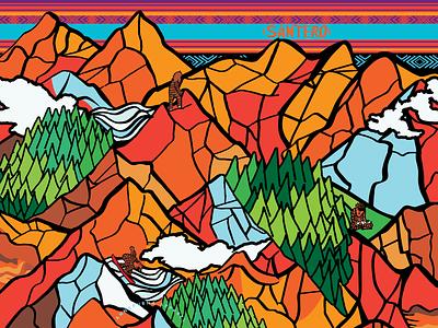 Arte para bandana de Santero apparel trail design apparel artwork illustration