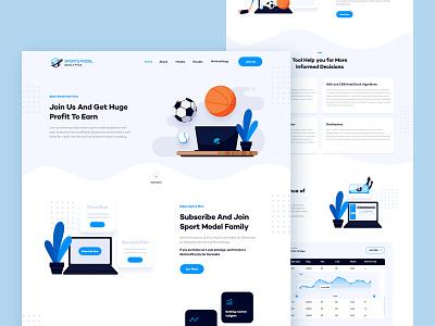 Sports Model Website Redesign web design webdesign illustration ui design sport sport website sports web website design website