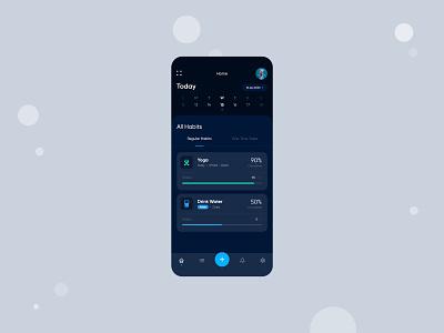 Habit Tracking - App Design ux app design vector app uxdesign uiux dribbble ui ui design design