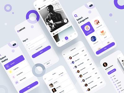 Quecus Social App Design social challange app challange message social app app design app uxdesign uiux illustration ui design ui design dribbble
