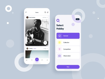 Quecus Social App Design uidesign app design app uxdesign uiux ui interfacedesign ui design challange social media social app homepage dribbble design