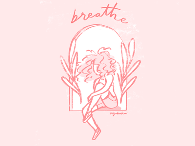 Breathe girl power digital drawing photoshop brush hand drawing sketch girl illustration breathe drawing