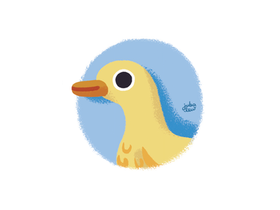 Little duck childrens book drawing challenge digital art bird animals illustration patos pato yellow duck