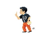 Pixel character