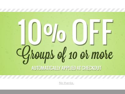 Group discount coupon green clean coupon