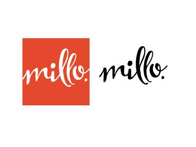 millo brand brand logo type handdrawn