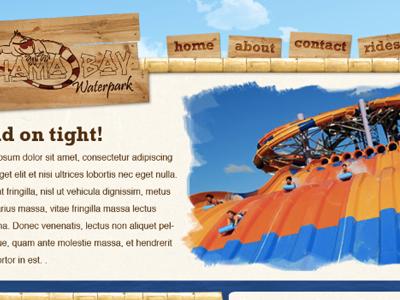 Bahama Bay waterpark web design