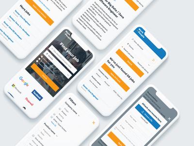"Job finding portal ""Work to people"" | Mobile UI"