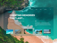 Travel agency Homepage concept