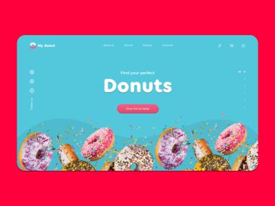 Donuts shop concept