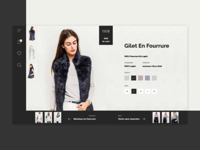 Fashion Shop Product Page