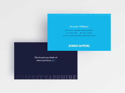 Bombay Business Cards — Variant 7 clean clever simple minimalist minimalism corporate identity typography gin print businesscard branding