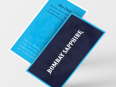 Bombay Sapphire Business Cards — Variant 1