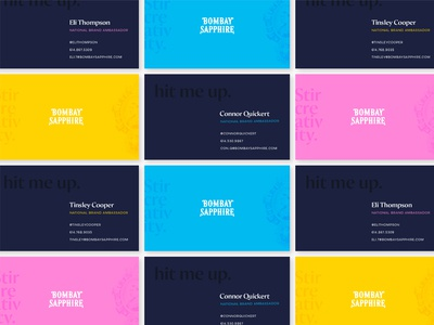 Bombay Sapphire Business Cards — Variant 3