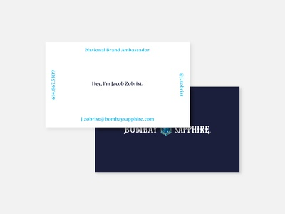 Bombay Sapphire Business Cards — Variant 4