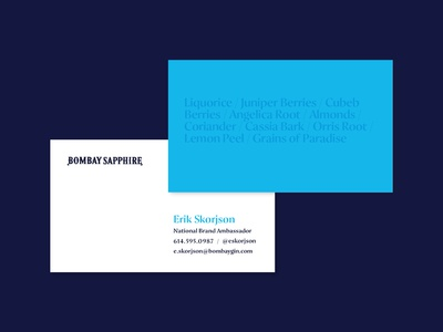 Bombay Sapphire Business Cards — Variant 5