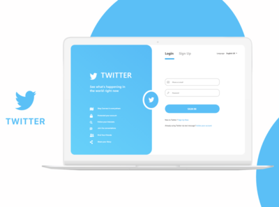Twitter Simple Login Page