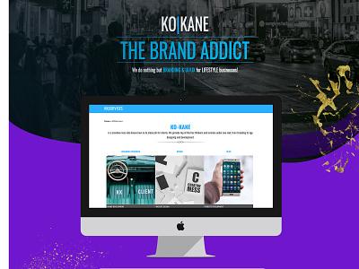 Ko-Kane Old site showcase graphicdesign web ux ui design branding