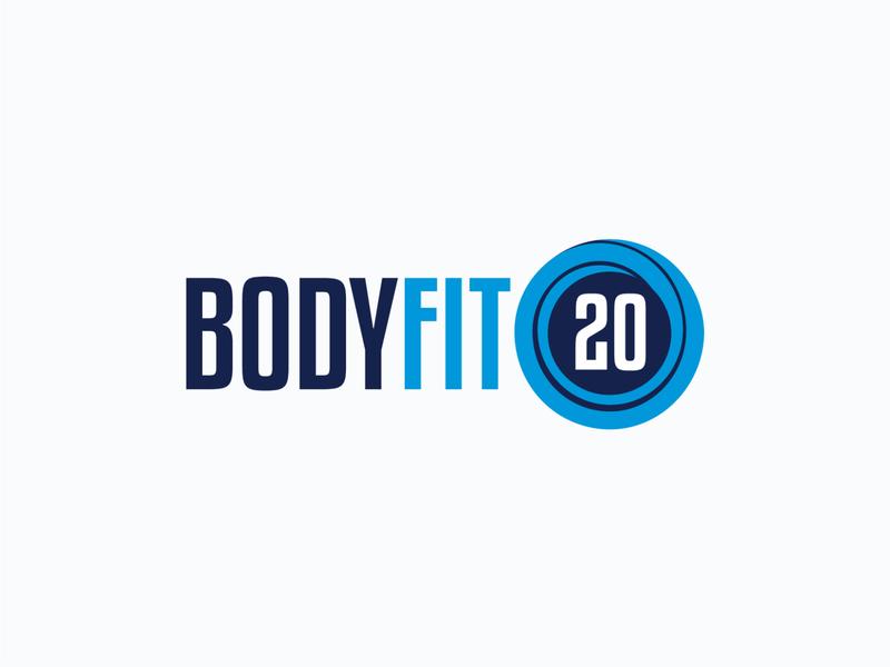 BodyFit20 Logo swirl blue design illustration vector logo design logo branding brand identity brand